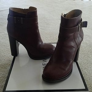 Nine West Brown Leather Boots 8.5m